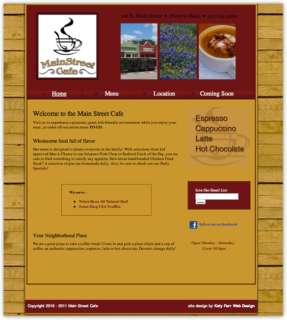 Custom web design by Katy Farr Web Design